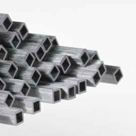 Tube - Square - Pultruded Unidirectional - 0.157 x 0.236 x 78 Inch